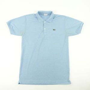 Lacoste Mens Sz M 4 Sky Blue Polo Shirt A1609